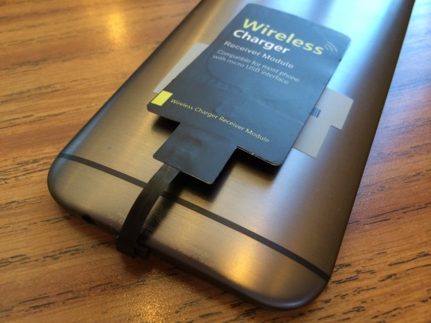qi-enabled wirelss charging film on htc one m8