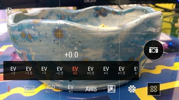 HTC One M8 EV settings