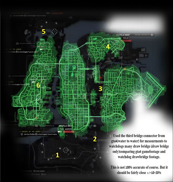 Watch Dogs vs GTA 4 map comparison.