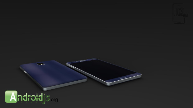 Samsung's Galaxy S5 design does not feature a metal band like the one seen here.