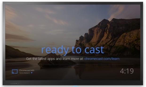 google chromecast ready to cast screen