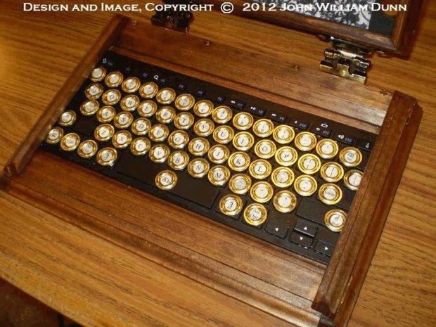 icog steampunk ipad air case keyboard