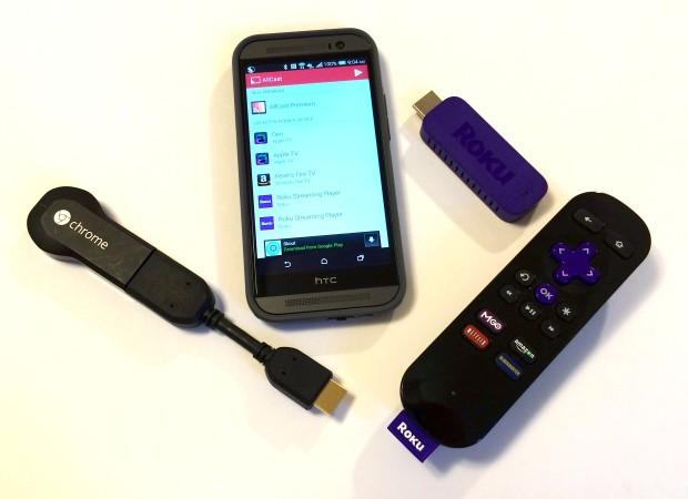 roku chromecast remotes and sticks