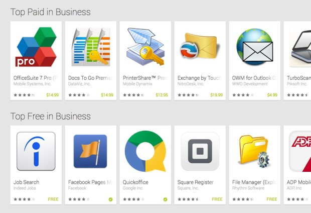 top business apps google play store