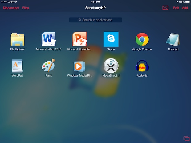 Parallels Access lets iPad users control their Windows desktop apps.