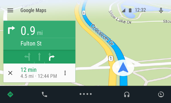 This is what Android Auto maps will look like, powered by Google Maps and Android L.