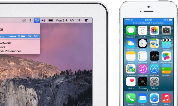 The iPhone is an instant hotspot when near your Mac on iOS 8 and OS X Yosemite.