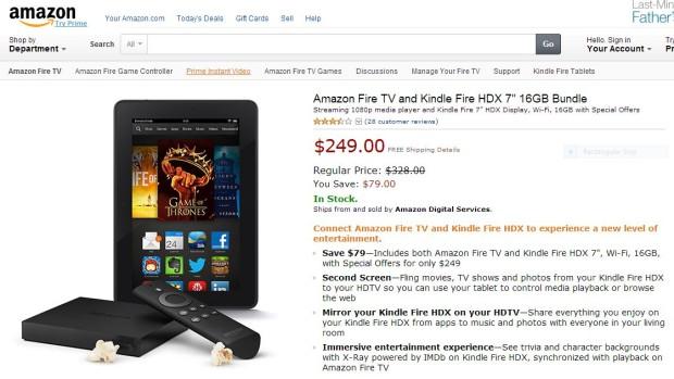 Kindle fire HDX & Fire TV Bundle