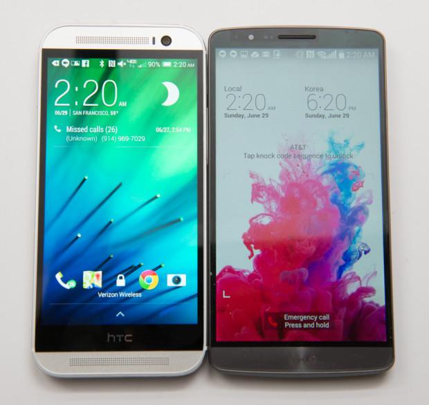 HTC One M8 vs LG G3