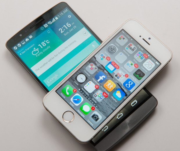 LG G3 and iPhone 5s