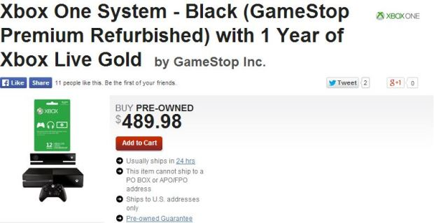 Xbox One Refurbsished GameSto Bundle