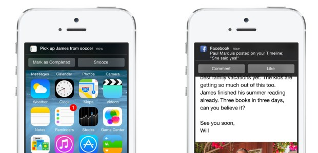 Smarter notifications let you reply or respond right away.