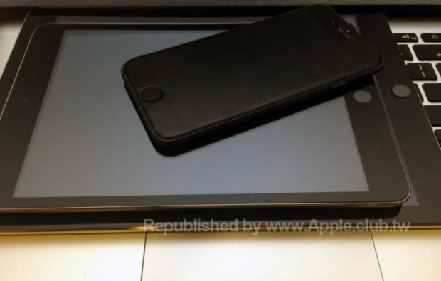This is what the iPhone 6 could look like next to the iPad mini 3 and iPad Air 2.