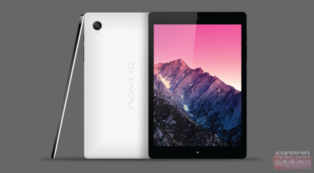 Nexus 8 render based on rumors.
