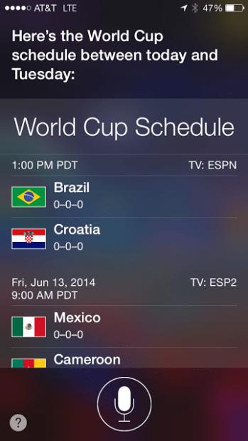Use Siri to follow the World Cup.