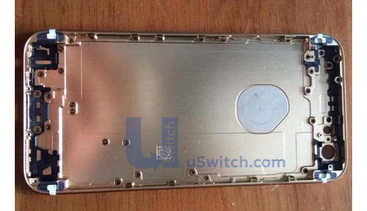 Alleged iPhone 6 photos show a logo cover that some believe means a notification LED in the logo.