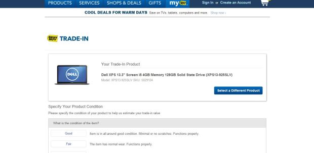 Best Buy XPS 13 Trade-In