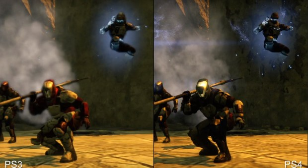 The PS3 vs PS4 comparison shows Destiny is blurry on the older console.