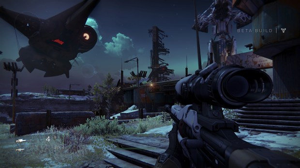 Share your weapons between characters using the vault in the Destiny beta tower.