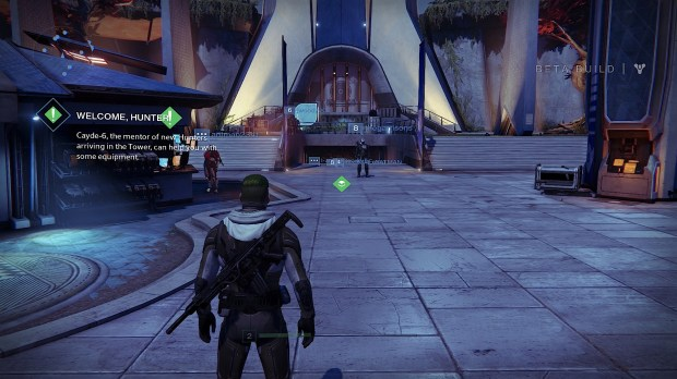 Visit the postmaster to make sure you get all of your Destiny beta loot.