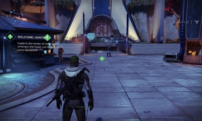 Explore the tower to unlock new weapons and gear.