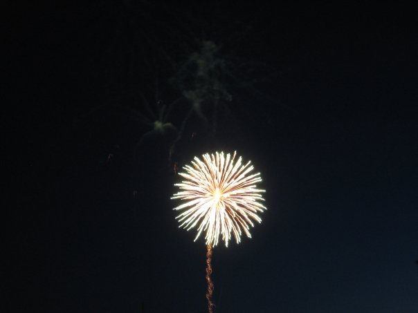 Use burst mode to take fireworks pictures that catch every second.