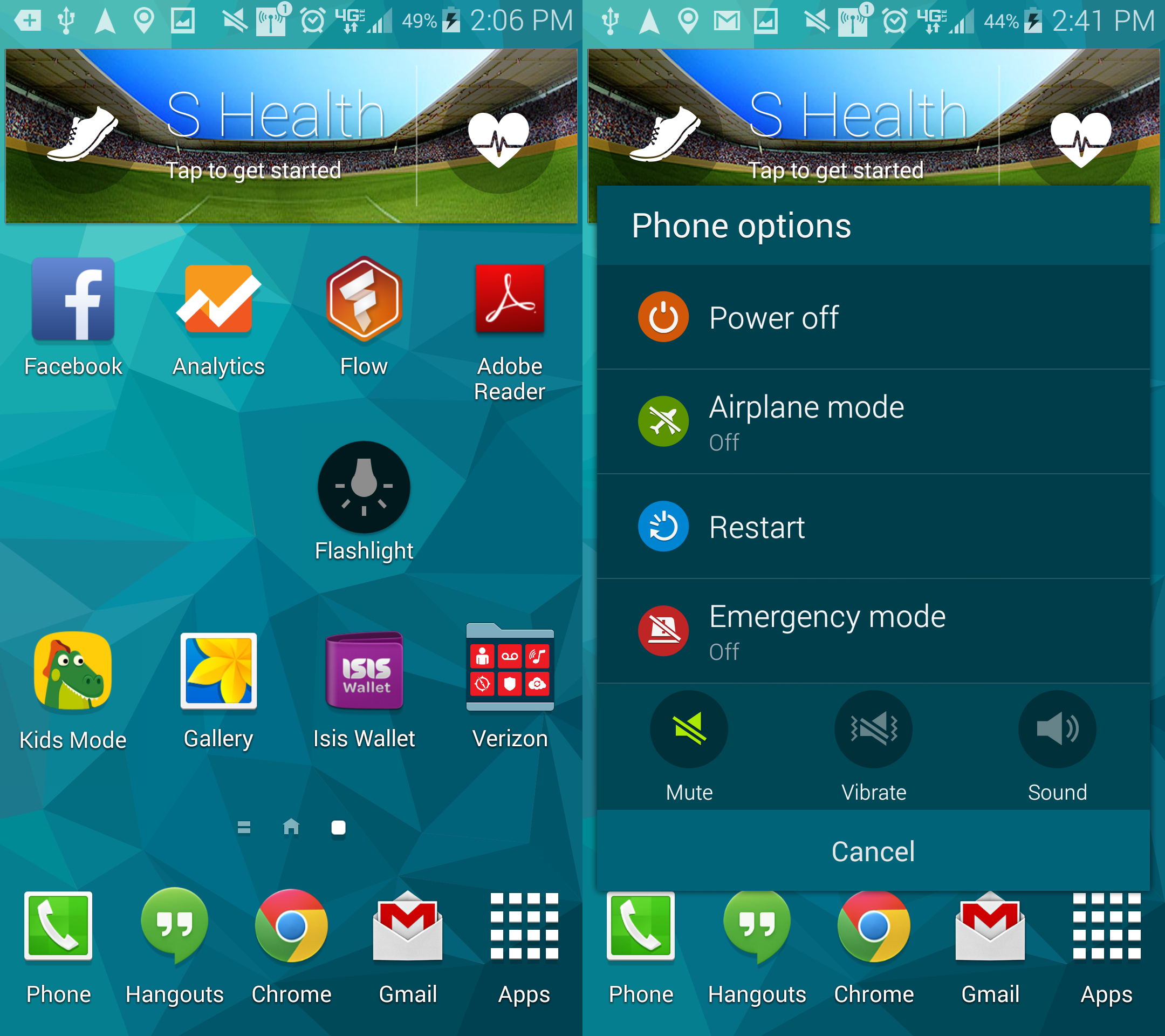 how to turn off flashlight on samsung android