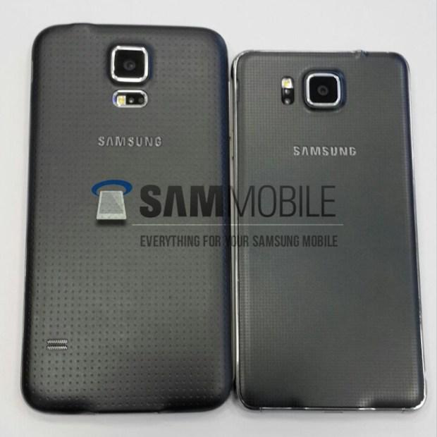 Galaxy S5 (left) vs Galaxy Alpha (right)
