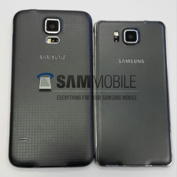Galaxy S5 (left) vs Galaxy Alpha (right)