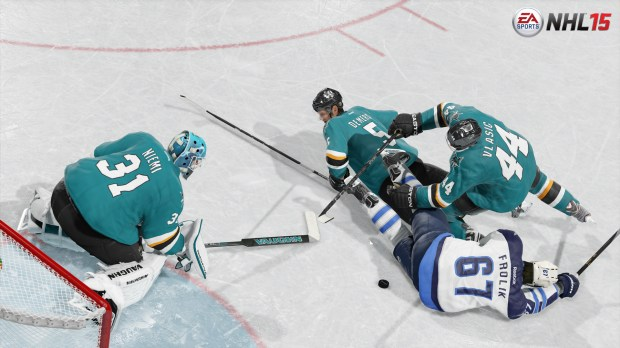 The NHL 15 physics upgrades deliver a better experience on PS4 and Xbox One.