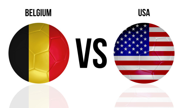The USA vs Belgium 2014 matchup is live on multiple services.