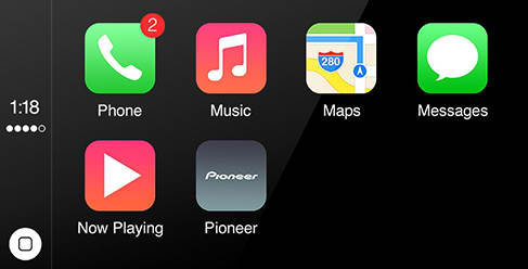Pioneer's CarPlay compatible Head Unit
