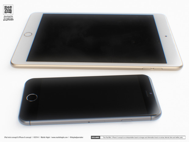 Check out these new iPad Mini 3 and iPhone 6 concepts.