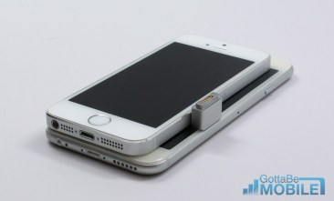With a 4.7-inch display the iPhone 6 is larger than the iPhone 5s, but not significantly wider.