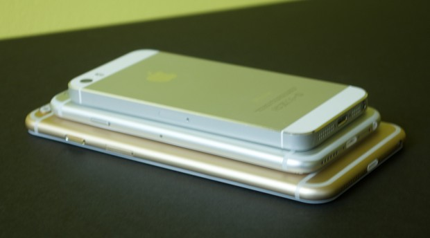The iPhone 6 features a new design with more curves than the iPhone 5s.