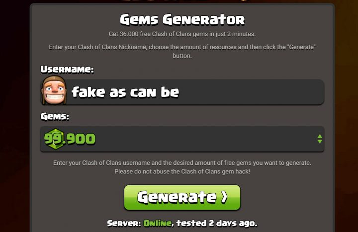 clash of clans hacked server