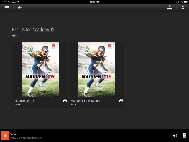 The first Madden 15 listing is the one you want to tap.
