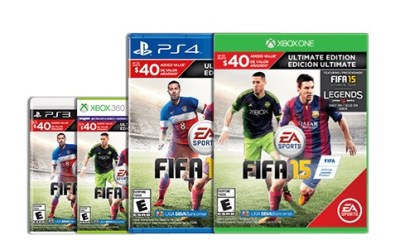 This FIFA 15 deal cuts the price to $35 after you get a $25 gift card you can use on another gamer after the FIFA 15 release.