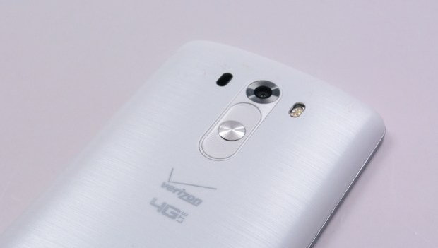The back of the LG G3 is curved, helping users hold it with one hand.