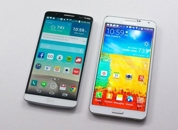 LG G3 vs Galaxy Note 3