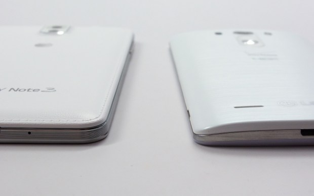 A curved back and sloped edges make the LG G3 easier to hold with one hand.