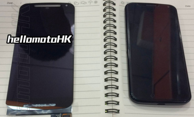 This leak shows a larger Moto X+1 display.