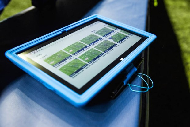 The NFL's Surface Pro 2 tablets.
