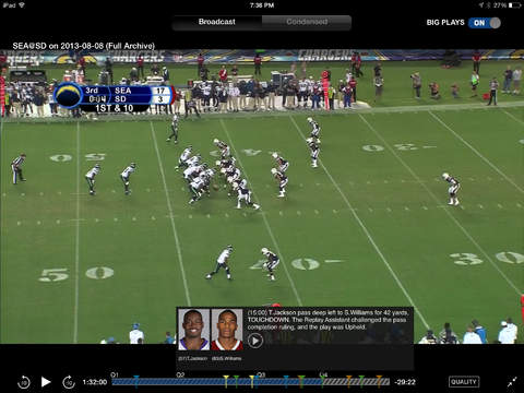 Watch NFL Preseason live on iPhone, iPad, Mac or PC.