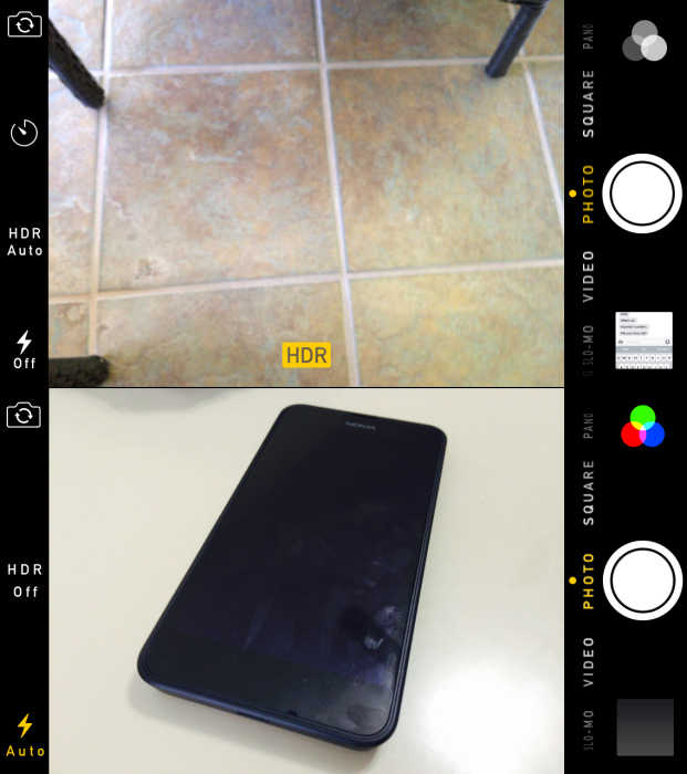 iOS 8 vs iOS 7 Camera App