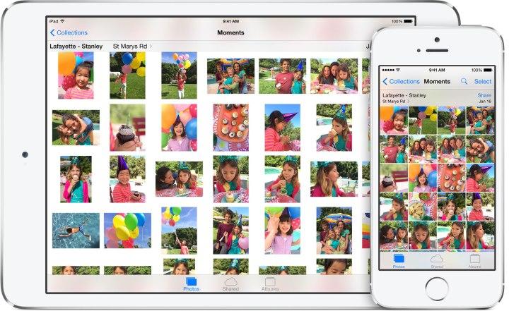 iOS 8 vs iOS 7 Photos
