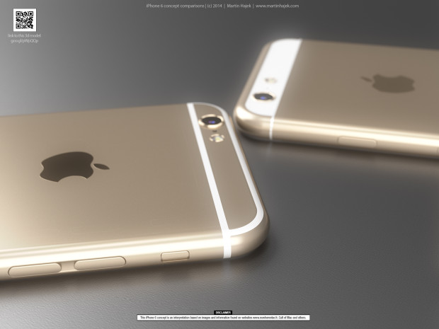 iPhone 6 concept based on iPhone 6 design rumors.