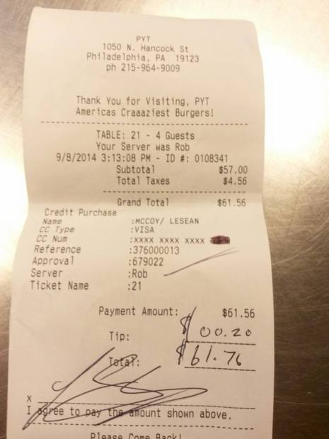 LeSeab McCoy's $0.20 Tip Could've Been Private w/ Apple Pay