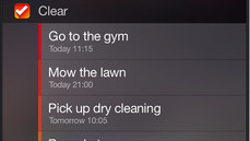 Clear is a to do list iOS 8 widget and app.