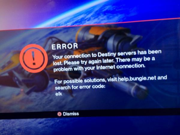 Destiny Servers Crumble On Destiny Release